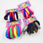 10 Pack Soft & Stretchy Ponytailers Mixed Colors  .52 per pack