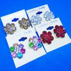 Elegant Crystal Stone Fashion Earrings 6 colors  .54 ea