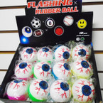 "2"" Light Up Eye Ball Balls 12 per display .55 ea"