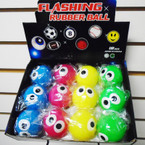 "2"" Light Up Silly Big Eyes Balls 12 per display .55 ea"
