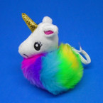 "3.5"" Rainbow Color Faux Fur UNICORN Clip 12 per counter unit $ 1.00 ea"