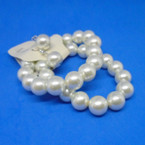 2 Pack 10MM Cream Glass Pearl Earring Set Only .54 per set