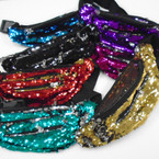 NEW 3 Zipper Change Color Sequin Waist Pouches $ 4.50 each