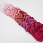 "5.5"" Rose Tone Color Mix Gator Clip Bows 24 per pk .39 each"