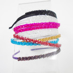 Wrapped Fashion Headbands w/ Colorful Crystal Stones .54 each
