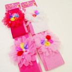 "2.5"" Headwrap w/ 4"" Fashionable Bow 4 colors .54 each"