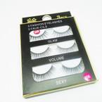 3 Pack Fashion Eyelashes as shown (318) .54 per set