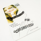 Popular Nylon Tattoo Choker Set 3 pc set All Black .50 each set