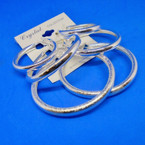 3 Pair Silver Fashion Hoops Mixed Sizes and Styles .52 per set