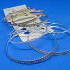 3 Pair Gold/Silver Fashion Hoops Mixed Sizes and Styles .52 per set