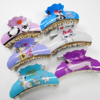"Cat & Dog Lover's 3.5"" Jaw Clips MIxed Styles .54 each"
