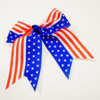 "6"" X 6"" USA Patriotic Cheer Gator Clip Bows .54 each"