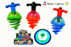 "4"" See Thru Dome Flashing Spinning Top w/ Sound 12 per bx $ 1.20 ea"