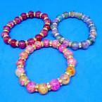 Glass MBL Bead & Mini Crystal Fashion Bracelets .54 each