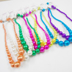 "16-18"" Summer Color Pearl Necklace Sets  .50 per set"