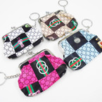 "3.5"" Designer Look Snap Closure Coin Bag w/ Keychain  .50 ea"