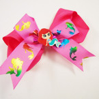 "5"" 2 Layer Gator Clip Bows w/ Mermaid Theme  .55 each"