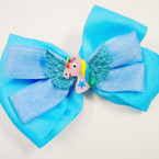 "5"" 2 Layer Gator Clip Bows w/ Unicorn w/ Wings  .55 each"