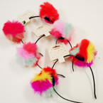 TOO CUTE  Multi Color Pom Pom Headbands as shown .56 each