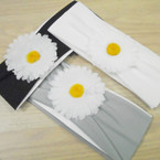 "SPECIAL 3"" Headwrap w/ 3"" White Daisy Flower 12 per pk .33 each"