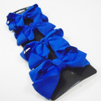 "4 Pack 2.75"" Gator Clip Bows All Royal Blue .54 per set"