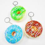 "3"" Squishy Scented Glazed Sprinkled Donut Keychains .60 each"