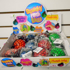 "3"" Asst Color Squish Mesh Balls 12 per display bx .62 each"