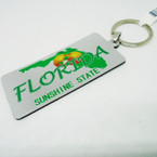 "3"" Dbl Sided Sunshine State Florida License Plate Keychain .54 ea"