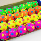 "2.5"" Flashing Light Up Space Balls w/ YoYo 24 per bx .54 each"