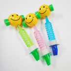 "7.5"" Smile Face Bubble Hammers w/ Whistle 12 per bx .55 each"
