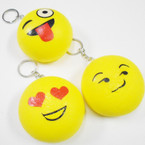 "3"" Squishy Scented Emoji Expression Keychains .60 each"