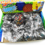 "3"" Multi Color Bead Squish Mesh Balls 12 per display bx .58 each"