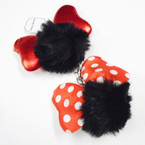 "3"" Faux Fur Pom Pom Ball Keychains w/ 2 Style 4"" Bow .56 each"