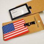 "4"" Durable USA Theme Luggage Tags 12 per pk .56 each"