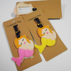 "4"" Durable Mermaid Theme Luggage Tags 12 per pk .56 each"