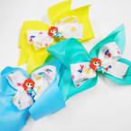 """5"""" Layered Gator Clip Bows Mermaid Theme  .54 each"""