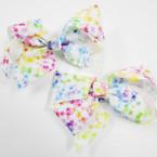 "5"" Tye Dye Gator Clip Bows w/ Popular Star Print  .54 each"
