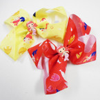 "Cutest 5.5"" Layered Gator Clip Bows Mermaid Theme  .54 each"