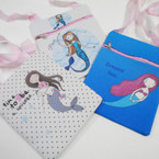 "Big  6"" x 7.5"" Mermaid Theme Zipper Side Bag w/ Lg Strap .60 each"