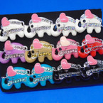 Colorful Elephant Rings w/ Crystals 12 per bx .40 each