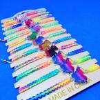 Multi Color Macrame Bracelet w/ Asst Color Unicorns .54 ea