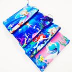 "3.5"" X 5"" Soft Fabric Mermaid Theme Zipper Purse w/ Keychain .54 ea"