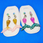 3 Pairs Under the Sea Mermaid Fashion Earring Set .52 per set
