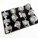 Cast Silver Men's Rings 3 styles per tray (#14)  .54 each