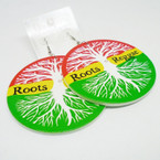 "3"" Rasta Color Tree of Life  Wood Earring Roots Reggae .52 ea"