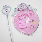 Jeweled Girl's Headband/Wand Set w/ Hair Accessories .56 per set