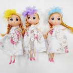 "6.5"" Dressed  Doll Keychain w/ Country Flower Dress & Bow .60 each"