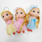 "5"" Dressed  Doll Keychain w/ Butterfly & Bow .54 each"