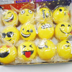 "2"" Flashing Bounce Rubber Emoji Theme Balls 12 per display .55 each"