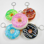 "3"" Squishy Scented Glazed Sprinkled Donut Keychains .60 ea"